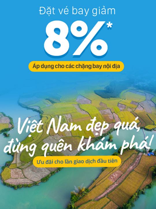 Traveloka giảm 8% khi đặt vé máy bay