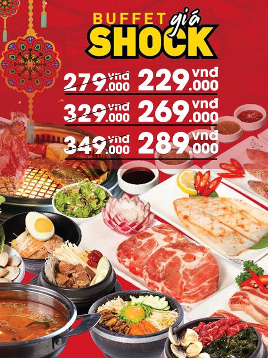 King BBQ ưu đãi buffet chỉ từ 229k tại Hà Nội
