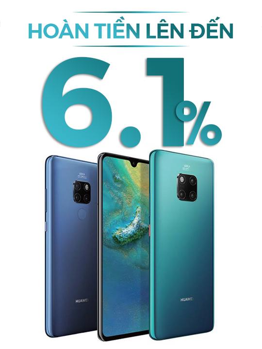 Huawei hoàn tiền lên đến 6.1%