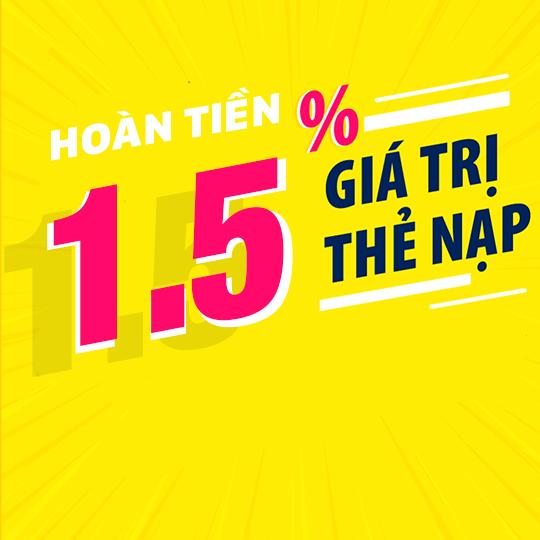 Viettel hoàn tiền 1.5% khi nạp thẻ điện thoại