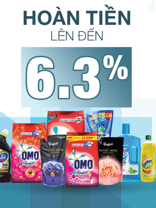 Unilever hoàn tiền lên đến 6.3% SP của Unilever