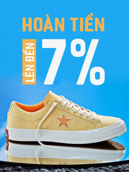 Converse hoàn tiền lên đến 7%