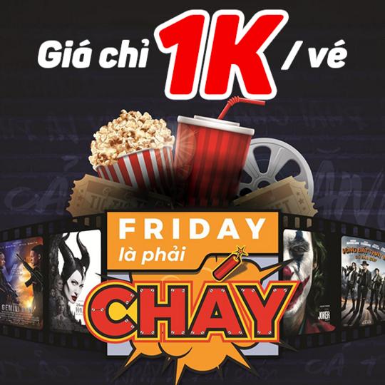CGV vé xem phim chỉ 1k qua Viettel Pay