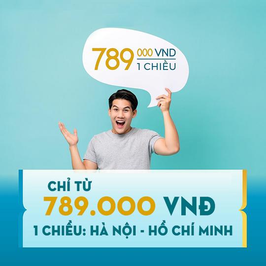 Vietnam Airlines vé bay Hà Nội - TP.HCM chỉ 789k/chiều