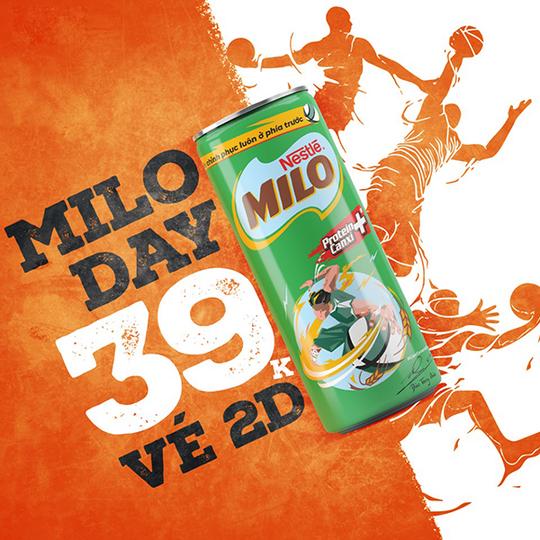 CGV ưu đãi 39k/vé 2D khi mua combo Milo