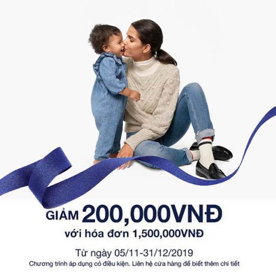 GAP giảm 200k với hóa đơn từ 1.200k