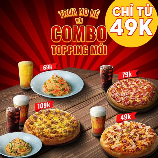 Pizza Hut ưu đãi combo lunch chỉ từ 49k