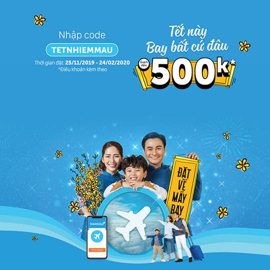 Traveloka giảm giá đến 500k khi đặt vé bay