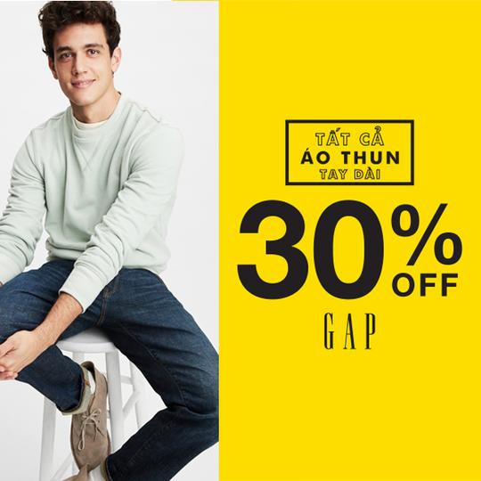 GAP giảm 30% toàn bộ áo dài tay