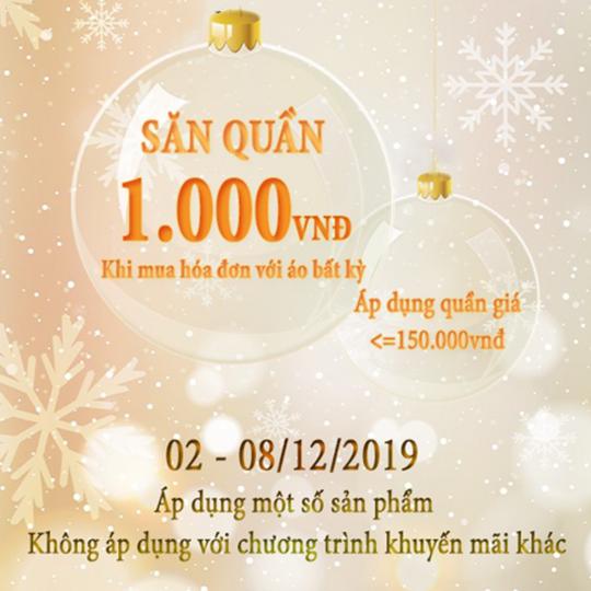 Sabina Vietnam quần giá 1k với hóa đơn bất kỳ