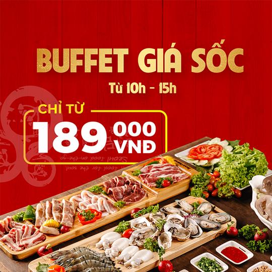Seoul Garden khuyến mãi buffet chỉ từ 189k