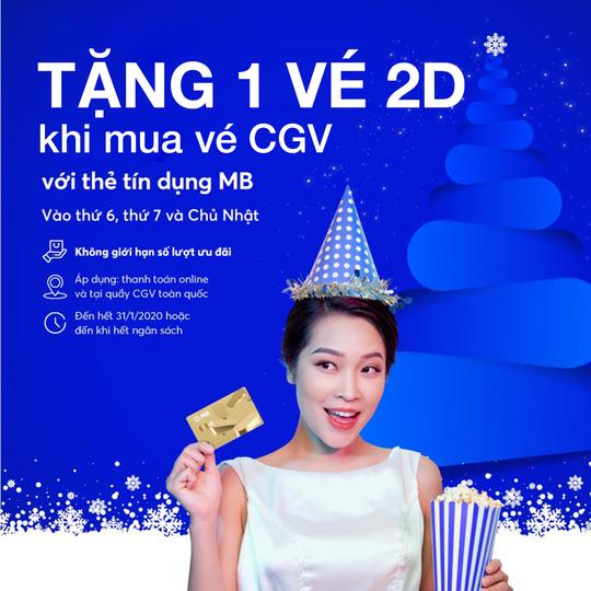 MBBank tặng vé phim CGV 2D