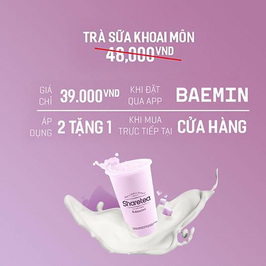 Sharetea Vietnam ưu đãi cho trà sữa khoai môn