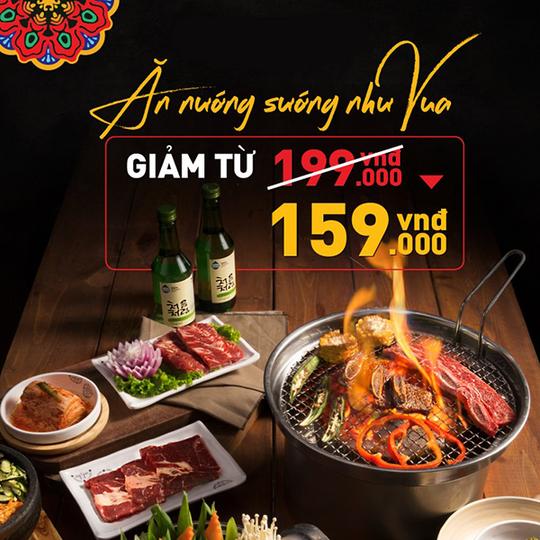 King BBQ buffet chỉ 159k tại CN Nguyễn Chí Thanh