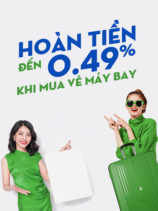 Bamboo Airways hoàn 0.49% khi mua vé máy bay