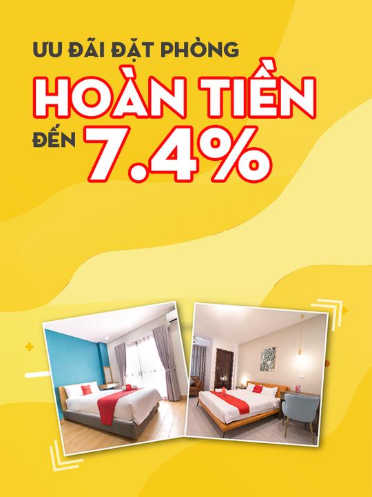 RedDoorz hoàn tiền đến 7.4% khi đặt phòng