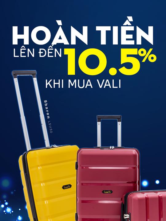 LUG.vn hoàn tiền đến 10.5% khi mua sắm