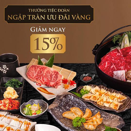 Tasaki BBQ giảm đến 15% cho khách đoàn