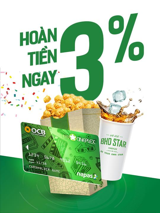 BHD Star Cineplex hoàn tiền 3% khi mua vé BHD tại Shopiness