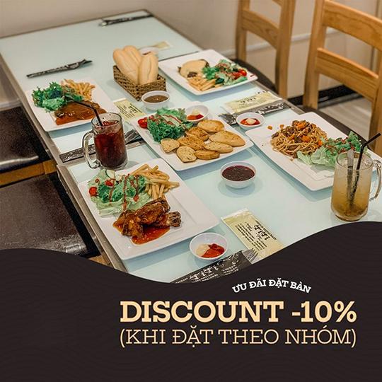 Beefsteak TiTi giảm giá 10% cho nhóm đông