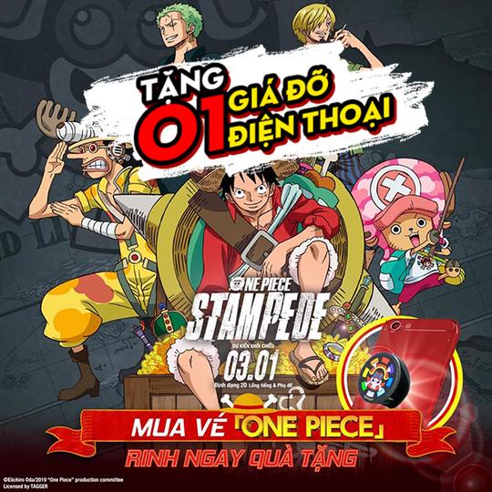 CGV tặng giá đỡ điện thoại khi xem One Piece