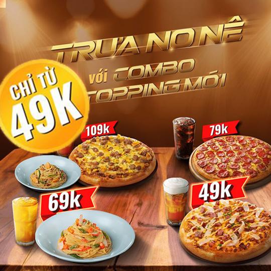 Pizza Hut khuyến mãi combo bữa trưa chỉ từ 49k