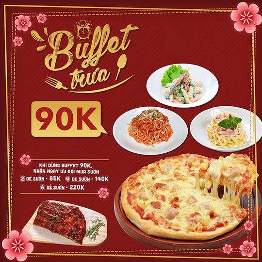 Pepperonis khuyến mãi buffet trưa chỉ 90k tại Hà Nội