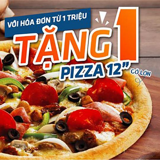 Domino tặng pizza cỡ lớn cho ĐH từ 1tr