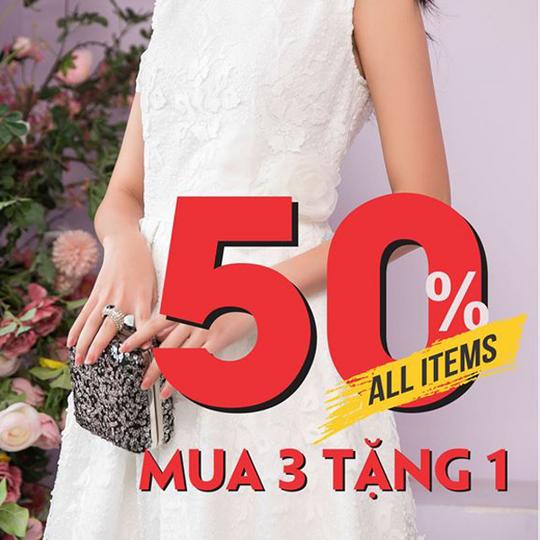 NEM Fashion khuyến mãi 50% toàn bộ sản phẩm
