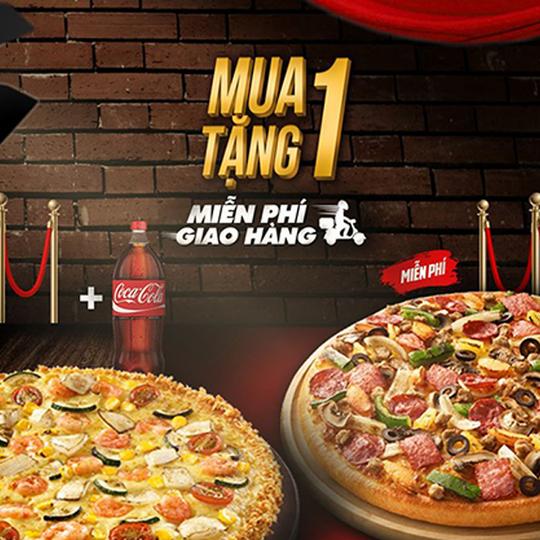 Pizza Hut khuyến mãi mua 1 tặng 1 mỗi ngày