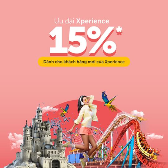 Traveloka giảm 15% vé Xperience cho KH mới