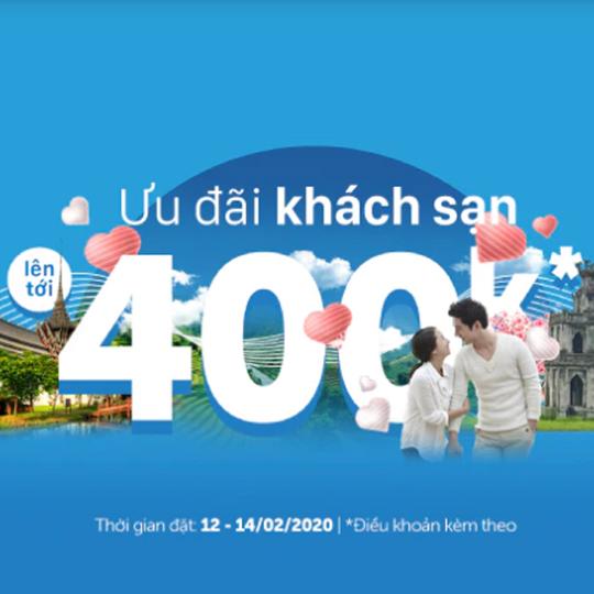 Traveloka khuyến mãi 25% tối đa 400k cho ĐH từ 1tr