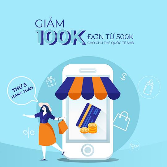 Shopee giảm 100k cho chủ thẻ SHB