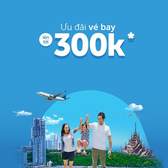 Traveloka giảm đến 300k khi đặt vé bay