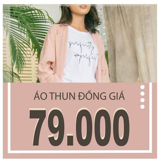 Việt Thy Fashion khuyến mãi đồng giá áo thun chỉ 79k