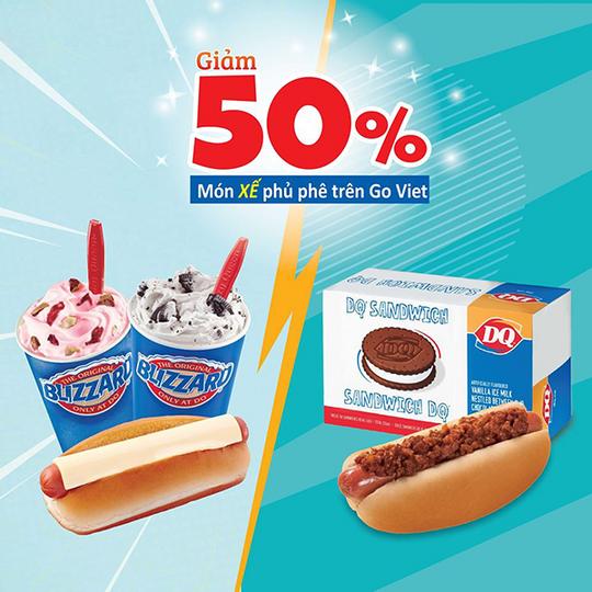 Dairy Queen khuyến mãi 50% khi đặt Goviet