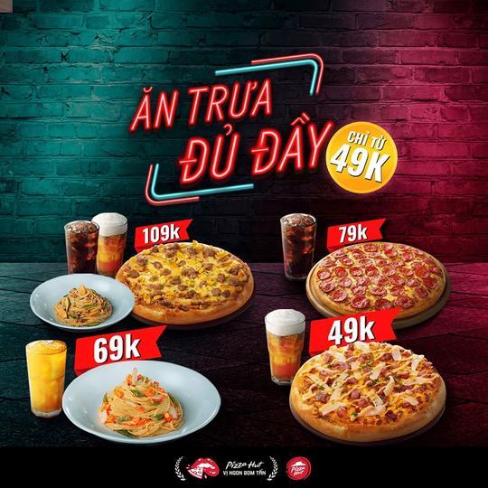 Pizza Hut khuyến mãi combo trưa từ 49k