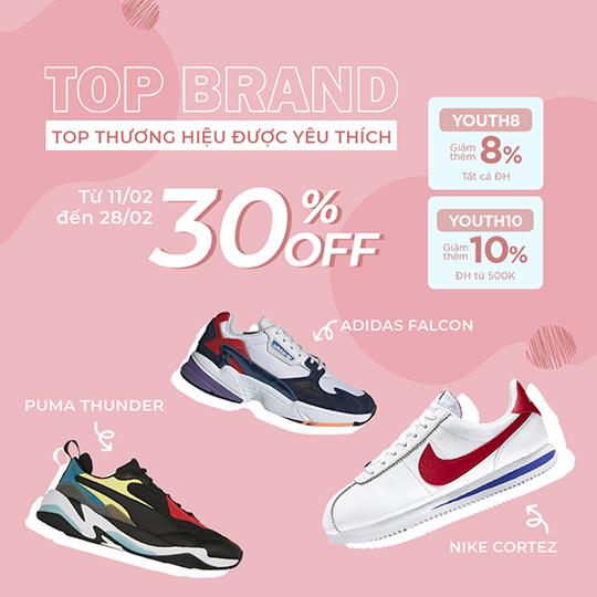 Yes24 khuyến mãi đến 30% cho sneaker