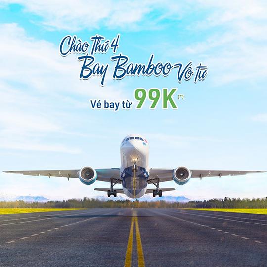 Bamboo Airways vé bay chỉ từ 99k vào thứ tư