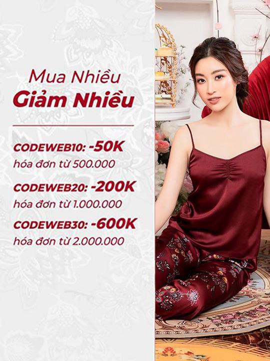 VINCY Homewear khuyến mãi đến 600k cho ĐH từ 500k
