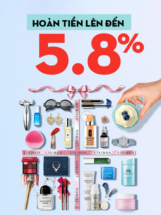 Lixibox hoàn tiền lên đến 5.8%