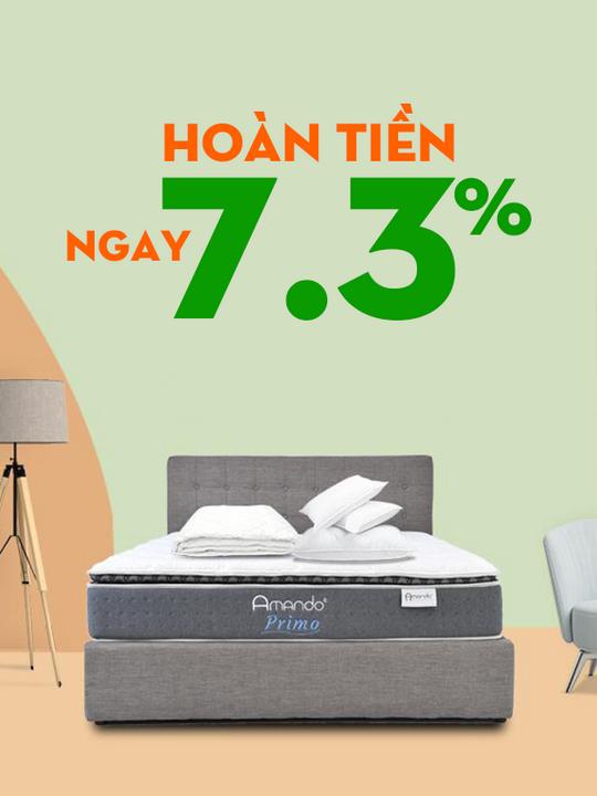Vua Nệm hoàn tiền ngay 7.3% khi mua sắm