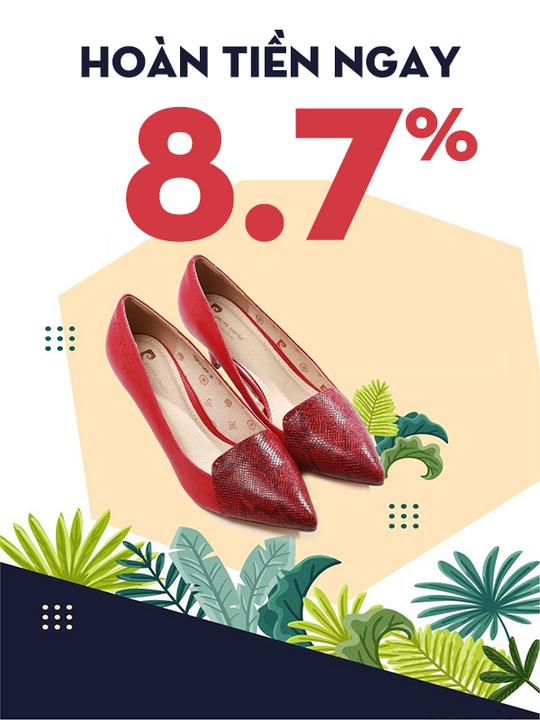Pierre Cardin hoàn tiền ngay 8.7% khi mua sắm