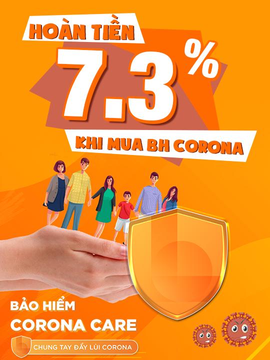 LIAN - Bảo hiểm Corona hoàn tiền đến 7.3% khi mua BH Corona