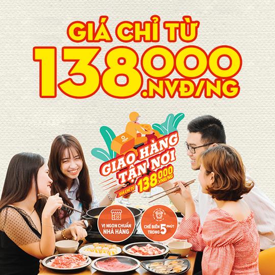 Khao lao lẩu chỉ từ 138k/người khi đặt qua website