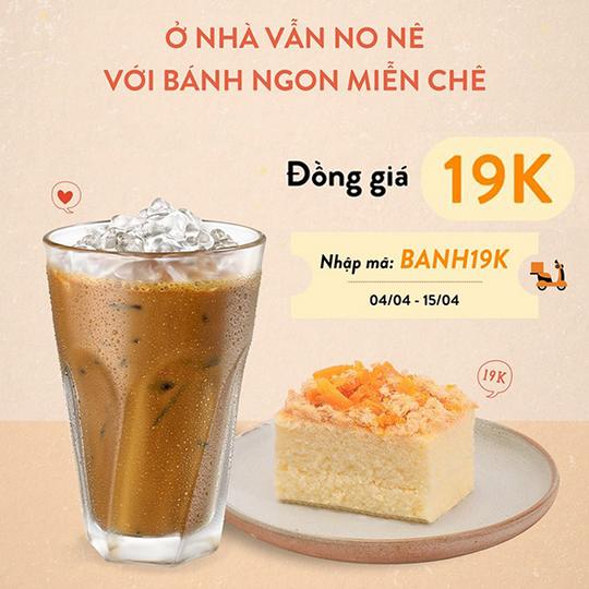The Coffee House đồng giá 19k bánh cho đơn giao hàng