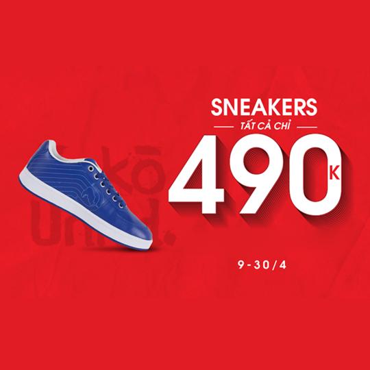 Hoàng Phúc đồng giá 490k toàn bộ Sneaker