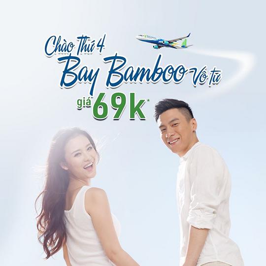 Bamboo Airways vé bay chỉ từ 69k vào thứ tư