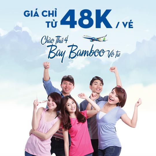 Bamboo Airways khuyến mãi vé bay chỉ từ 48k mỗi thứ 4