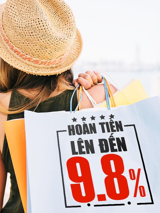 Couple TX hoàn tiền đến 9.8% tổng giá trị đơn hàng